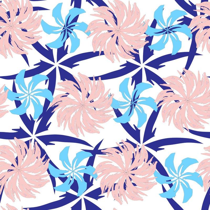 Modelo inconsútil abstracto del este Texturas infinitas del color rosado Ornamento indio para adornar telas, las tejas y el papel stock de ilustración
