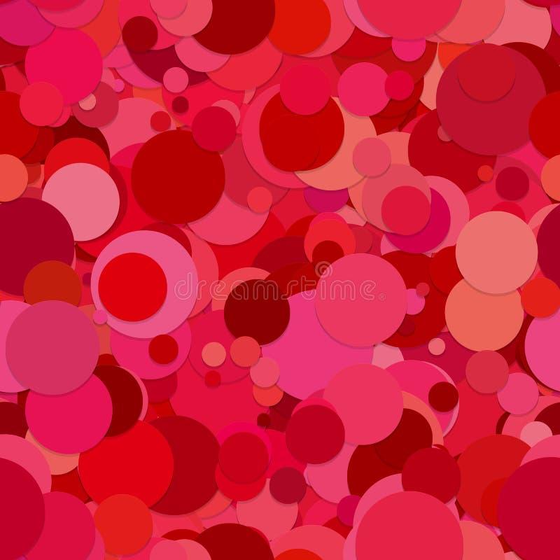 Modelo inconsútil abstracto del fondo del círculo - vector el diseño de puntos en tonos rojos con efecto de sombra ilustración del vector