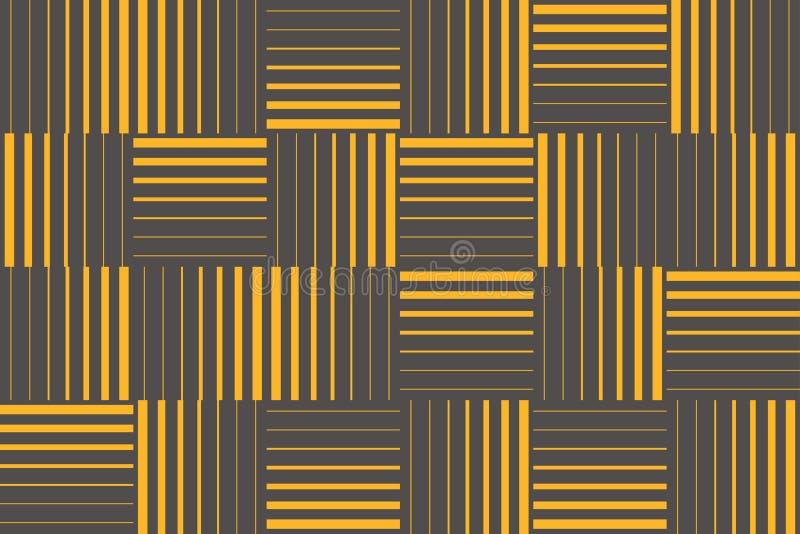 Modelo inconsútil, abstracto del fondo hecho con los movimientos que forman formas cuadradas libre illustration