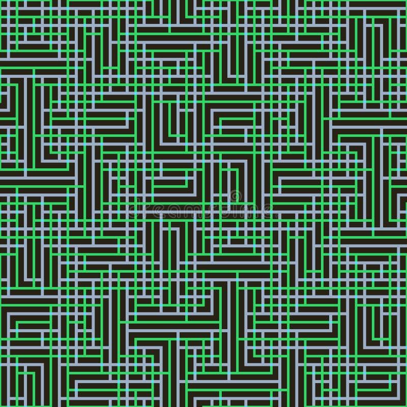 Modelo inconsútil abstracto del vector de entrecruzar el ornamento cuadrado foto de archivo