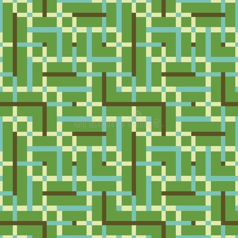 Modelo inconsútil abstracto del vector de entrecruzar el ornamento cuadrado fotografía de archivo