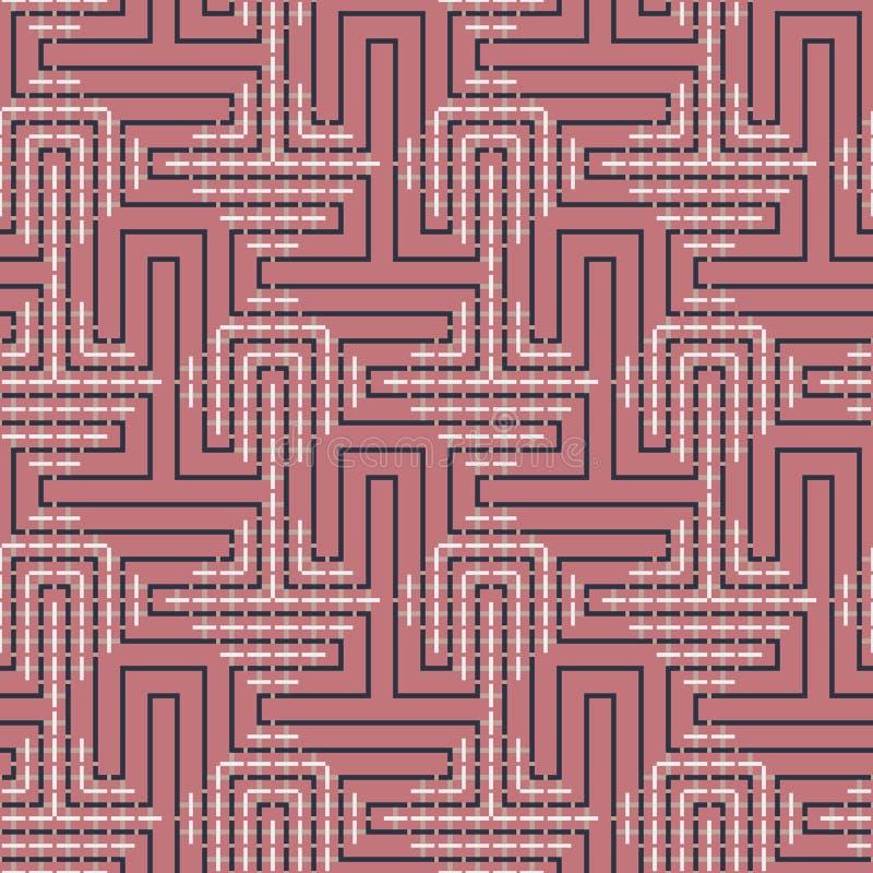 Modelo inconsútil abstracto del vector de entrecruzar los ornamentos cuadrados imagen de archivo libre de regalías