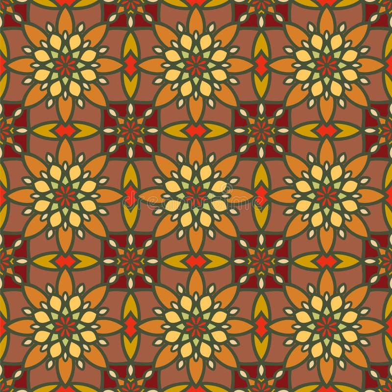 Modelo inconsútil abstracto del vector Vintage Ornamen del este geométrico stock de ilustración