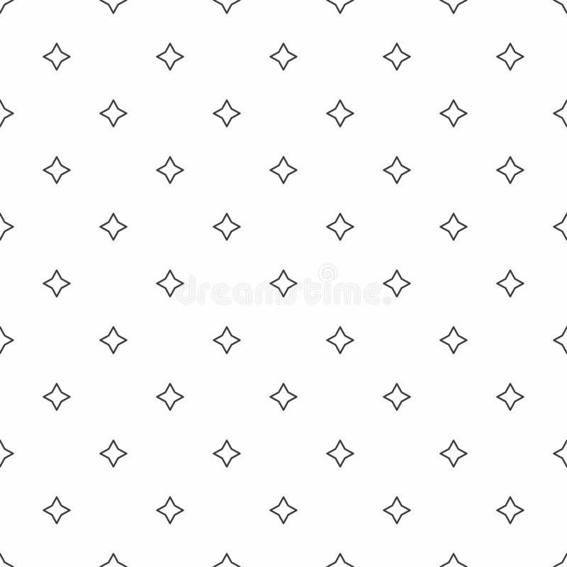 Modelo inconsútil abstracto Estrellas del gris, texturas elegantes modernas stock de ilustración