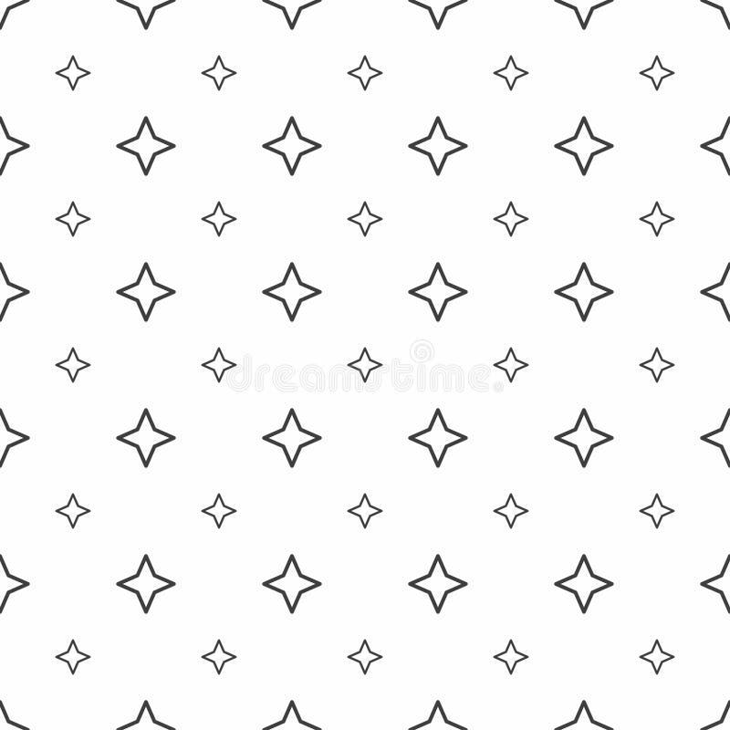 Modelo inconsútil abstracto Estrellas del gris, texturas elegantes modernas ilustración del vector