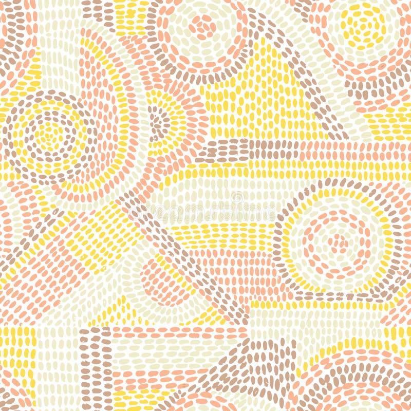 Modelo inconsútil abstracto Impresión linda para las materias textiles Remiendo adentro stock de ilustración