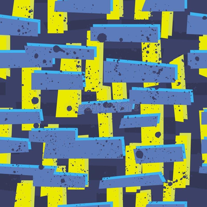 Modelo inconsútil abstracto para las muchachas, muchachos, ropa Fondo creativo con los puntos, figuras geométricas papel pintado  ilustración del vector
