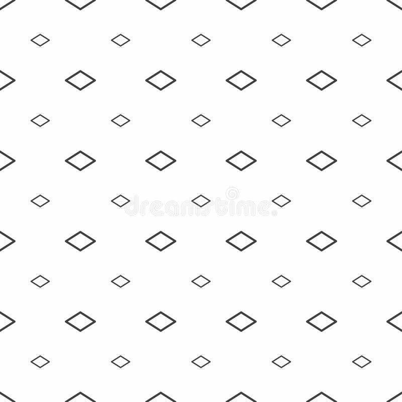 Modelo inconsútil abstracto Rhombus grises, texturas elegantes modernas stock de ilustración