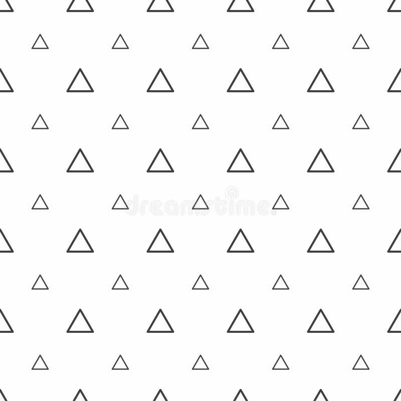 Modelo inconsútil abstracto Triángulos grises, texturas elegantes modernas stock de ilustración