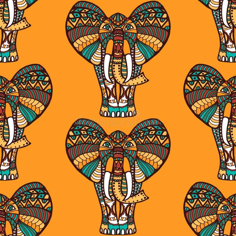 Modelo inconsútil africano ilustración del vector