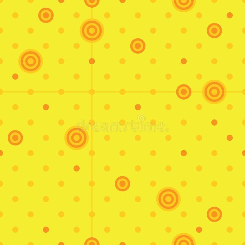 Modelo inconsútil amarillo de la piruleta del extracto del círculo stock de ilustración