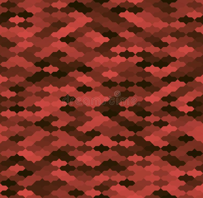 Modelo inconsútil arrinconado geométrico rojo y negro ilustración del vector