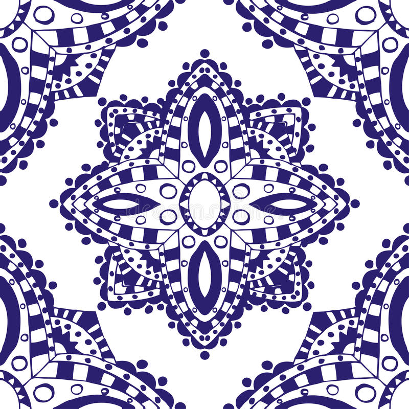 Modelo inconsútil azul libre illustration