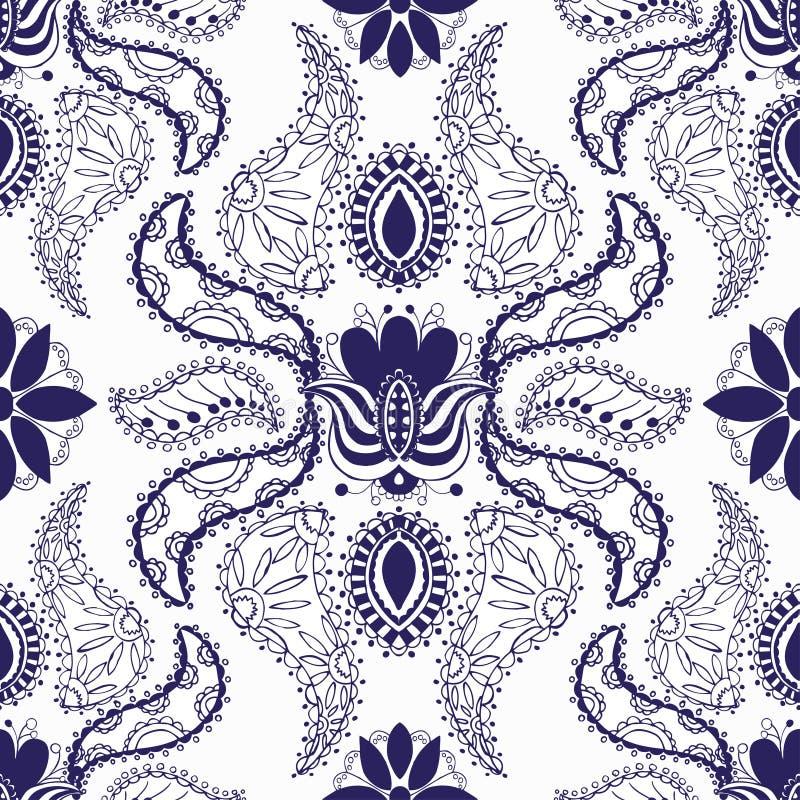 Modelo inconsútil azul ilustración del vector