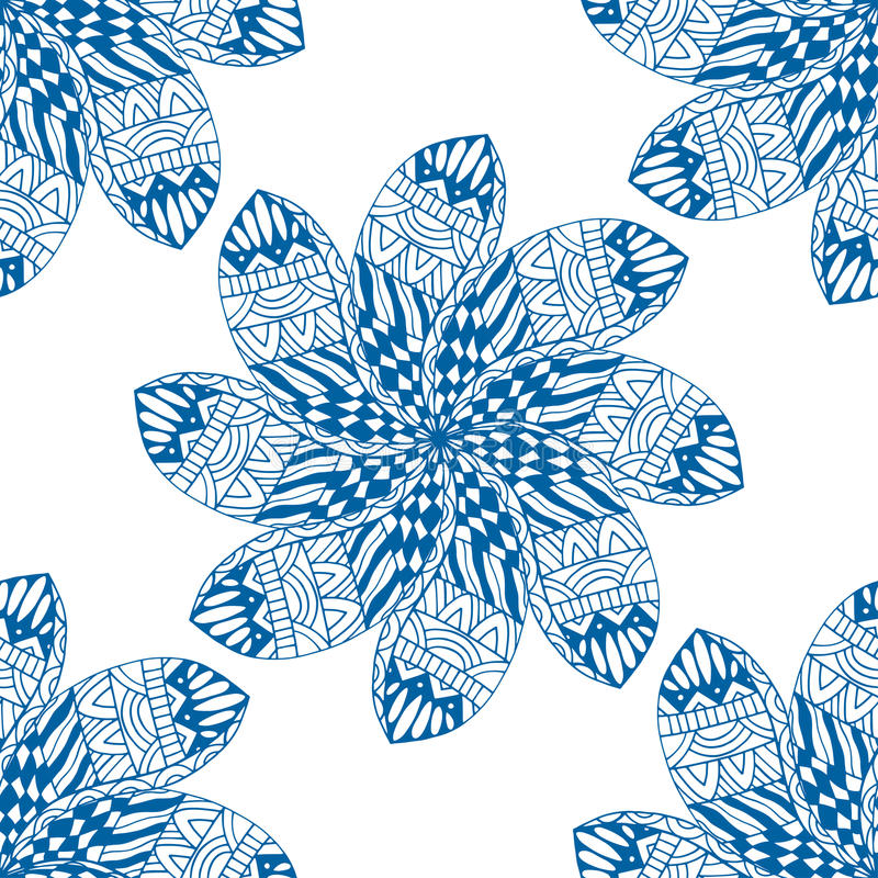 Modelo inconsútil azul stock de ilustración