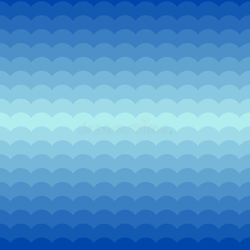 Modelo inconsútil azul con las ondas ilustración del vector