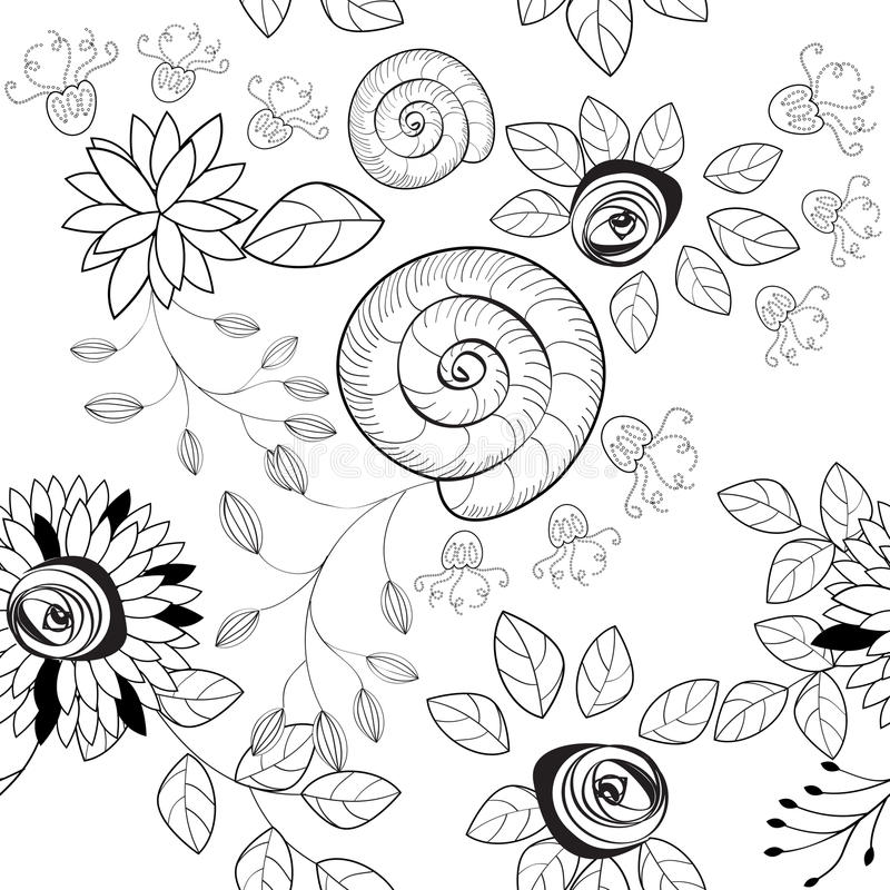 Modelo inconsútil blanco y negro libre illustration