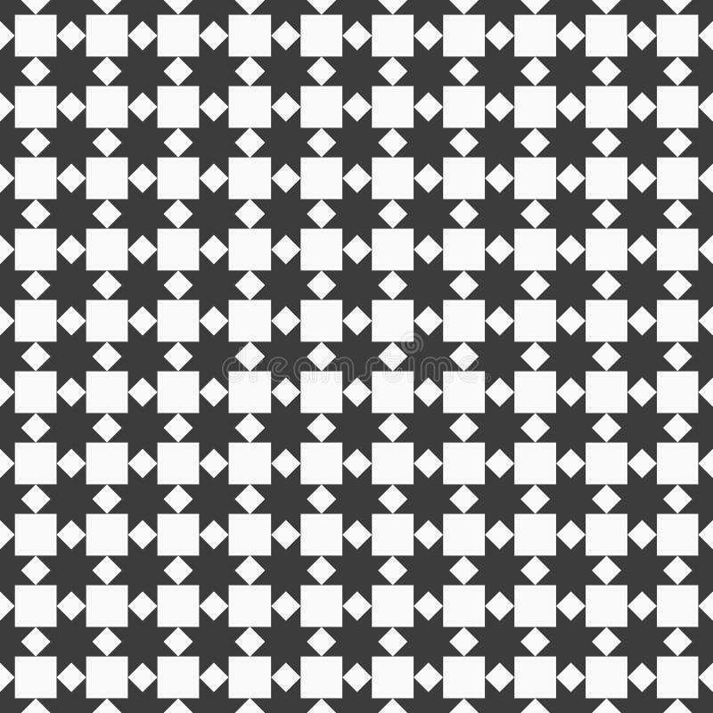 Modelo inconsútil blanco y negro con las estrellas estilizadas ilustración del vector