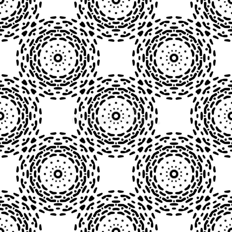 Modelo inconsútil blanco y negro de Steampunk stock de ilustración