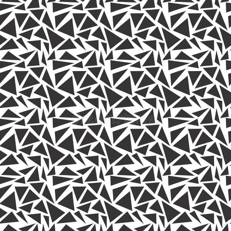 Modelo inconsútil blanco y negro del triángulo del sistema libre illustration