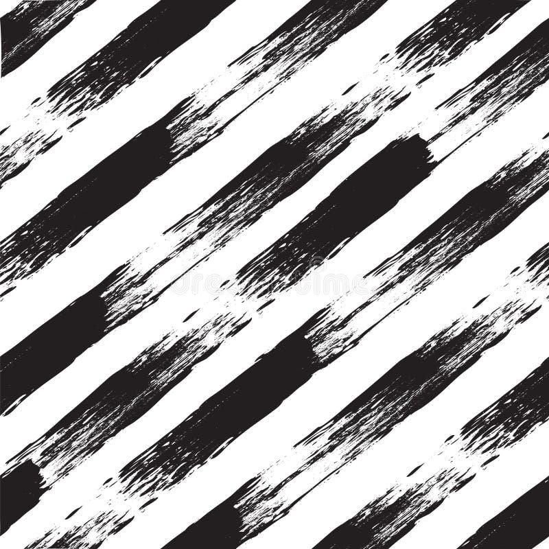 Modelo inconsútil blanco y negro del vector con las líneas Acuarela remontada libre illustration