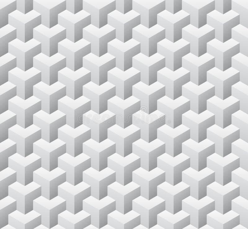 Modelo inconsútil cúbico Ilustración del vector libre illustration