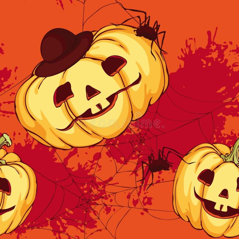 Modelo inconsútil, calabaza de Halloween libre illustration