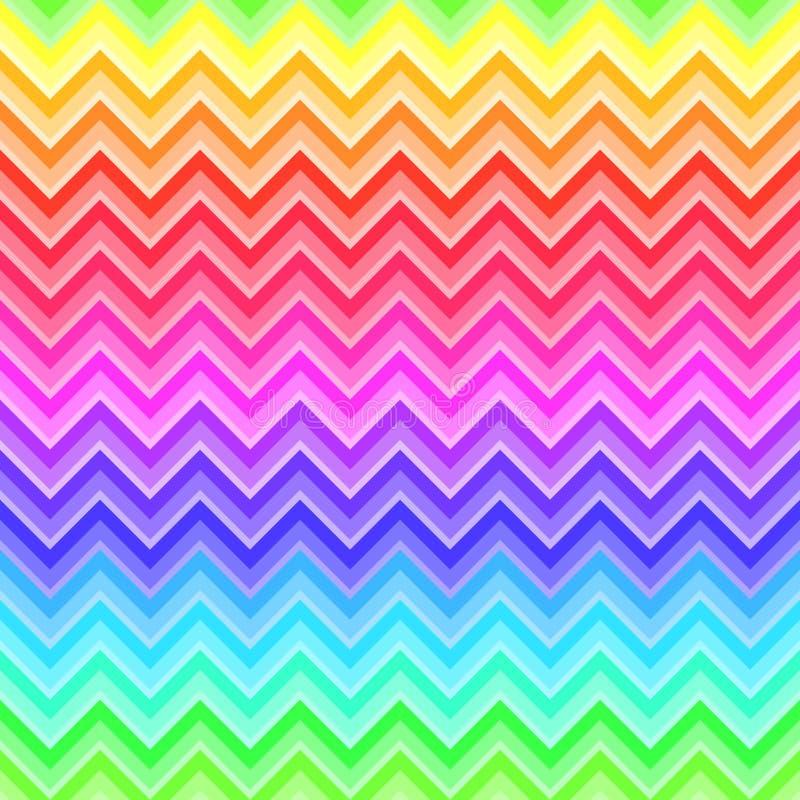 Modelo inconsútil coloreado arco iris de Chevron ilustración del vector
