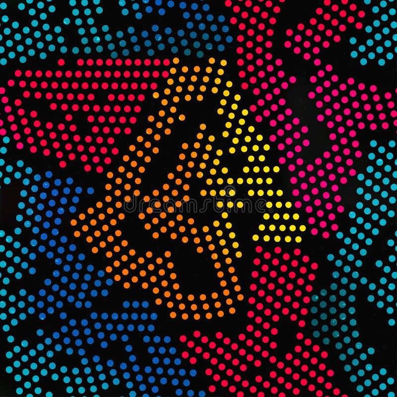 Modelo inconsútil coloreado de los puntos libre illustration