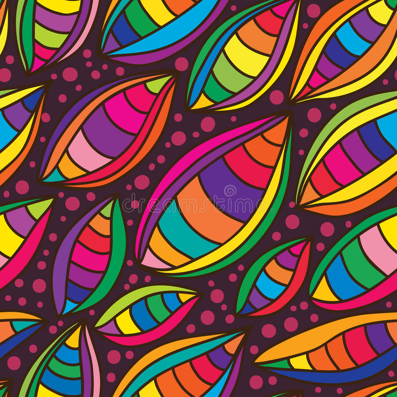 Modelo inconsútil colorido de la hoja stock de ilustración