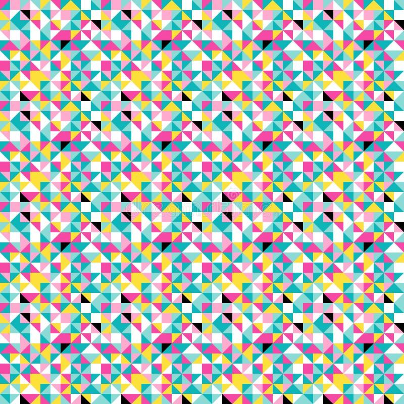 Modelo inconsútil colorido de la papiroflexia retra ilustración del vector