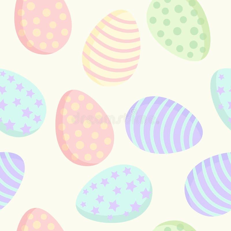 Modelo inconsútil colorido de los huevos de Pascua Ilustración del vector libre illustration