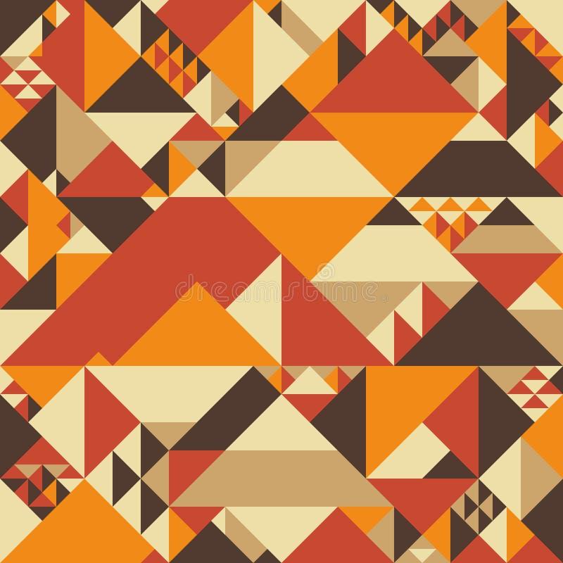 Modelo inconsútil colorido del vintage con las pirámides ilustración del vector