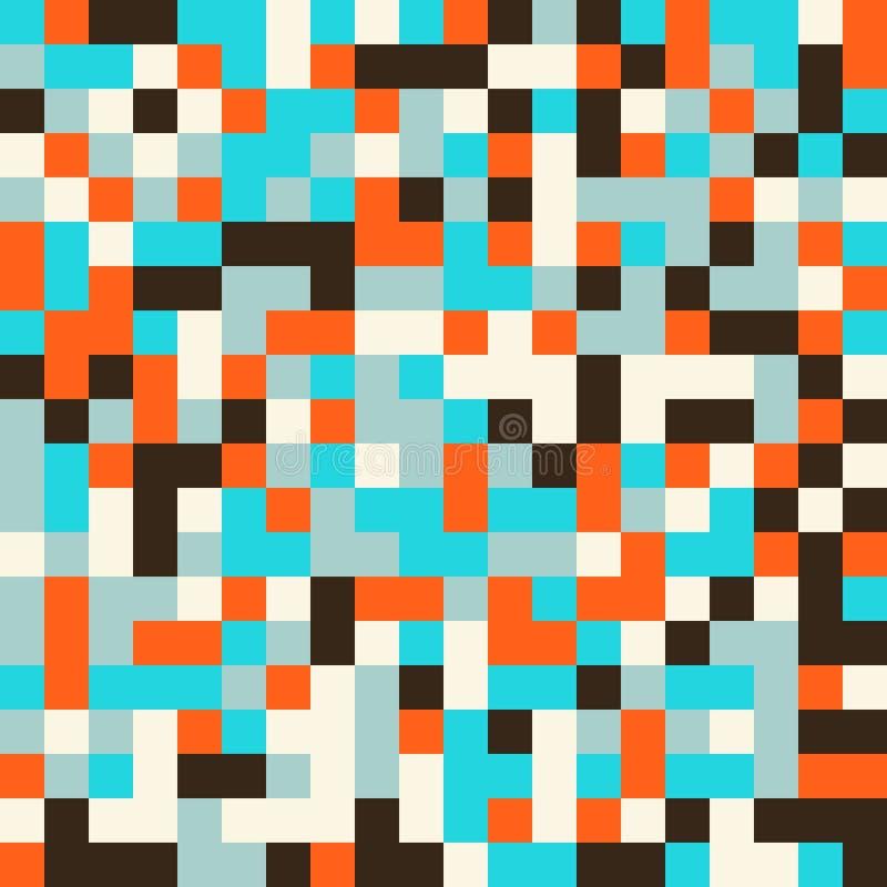 Modelo inconsútil colorido en estilo del pixel 8bit libre illustration