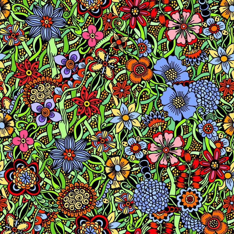 Modelo inconsútil colorido floral libre illustration