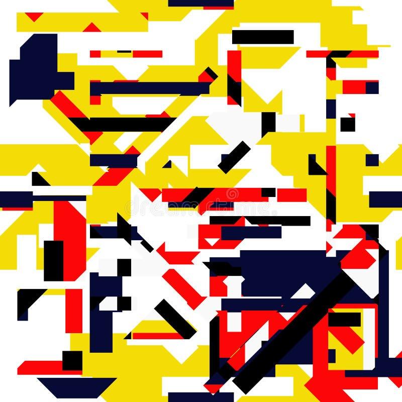 Modelo inconsútil colorido vibrante abstracto ilustración del vector
