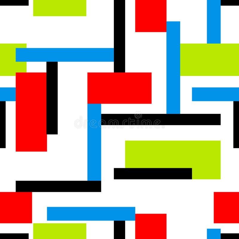 Modelo inconsútil colorido vibrante abstracto stock de ilustración
