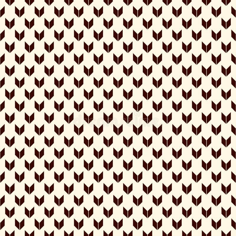 Modelo inconsútil con adorno de las flechas Mini corchetes menores/mayores repetidos Papel pintado de los galones Fondo abstracto ilustración del vector
