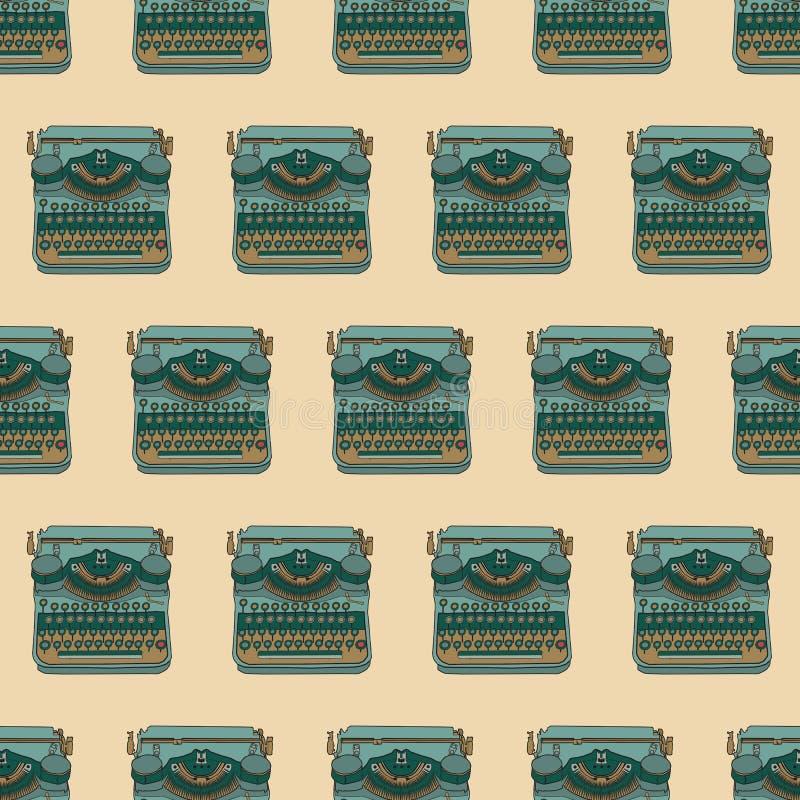 Modelo inconsútil con diseño del vector de las máquinas de escribir del vintage libre illustration