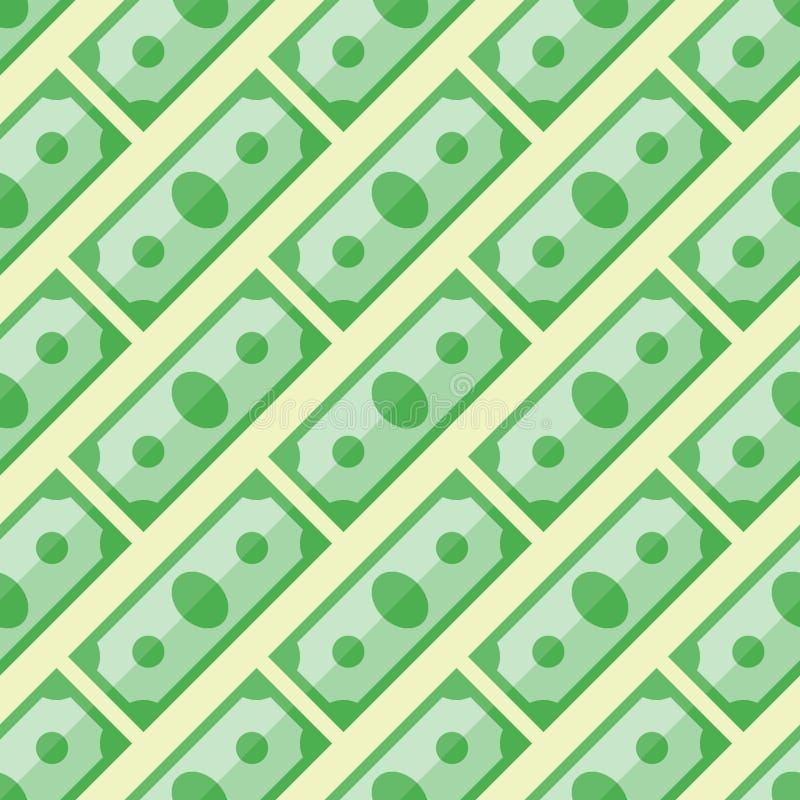 Modelo inconsútil con el dinero ilustración del vector