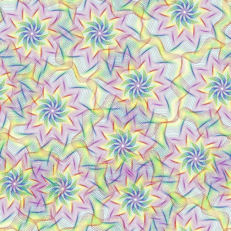 Modelo inconsútil con el elemento colorido del arco iris del guilloquis libre illustration
