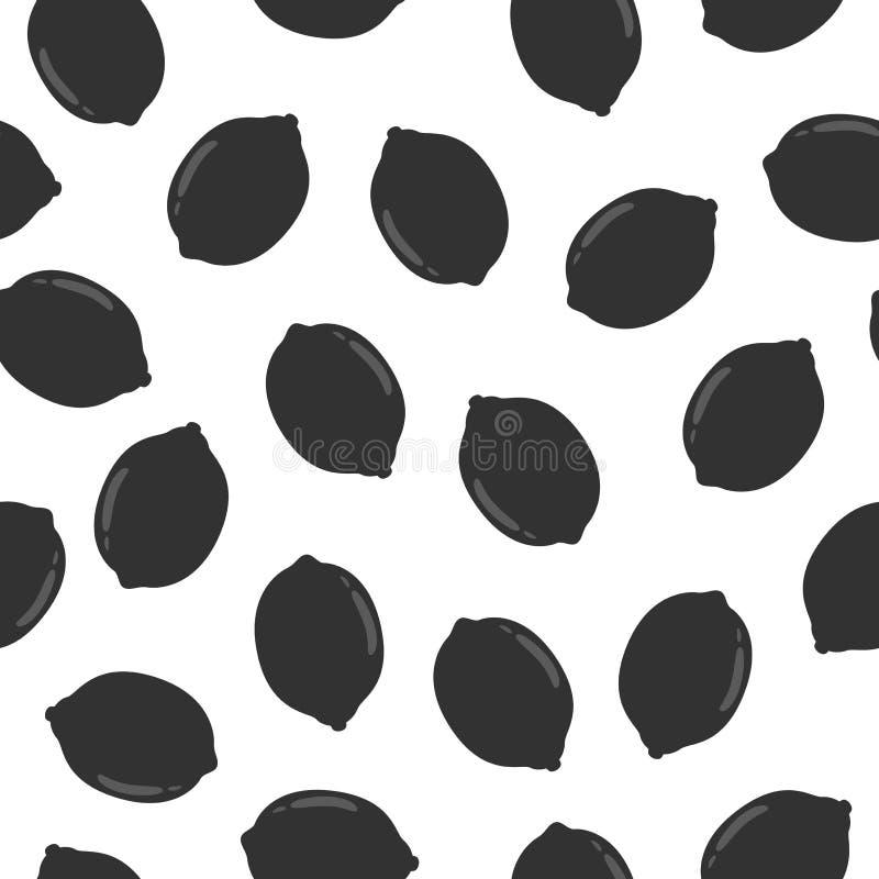 Modelo inconsútil con el limón ilustración del vector