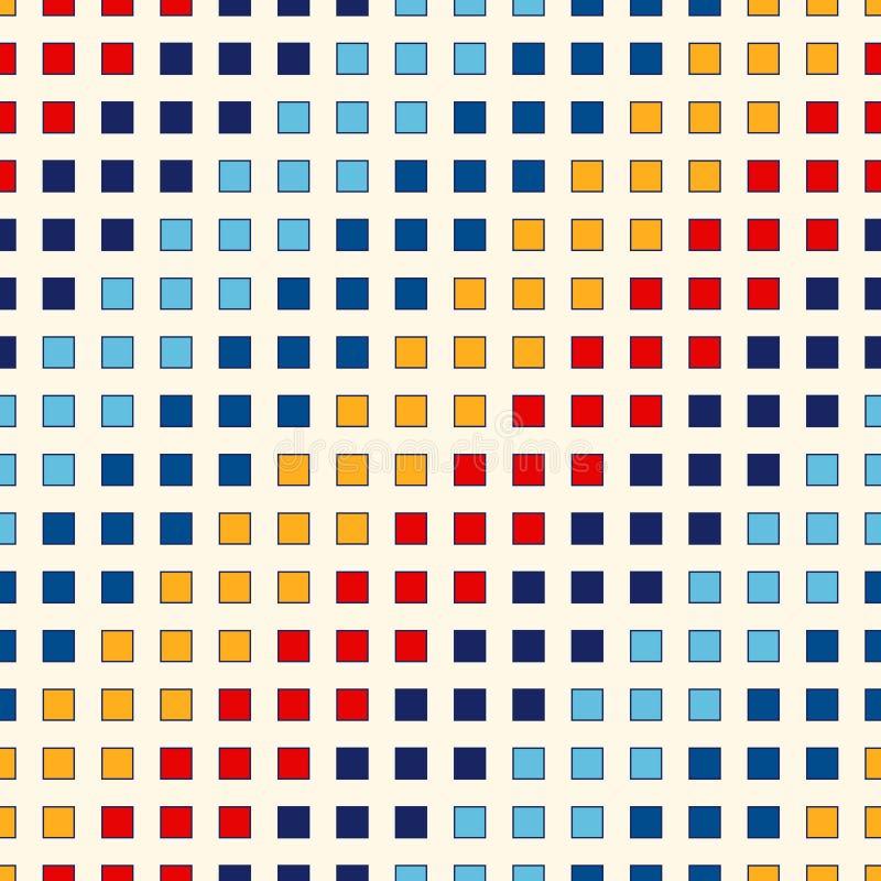 Modelo inconsútil con el ornamento geométrico simétrico Fondo brillante repetido extracto Papel pintado del mosaico stock de ilustración