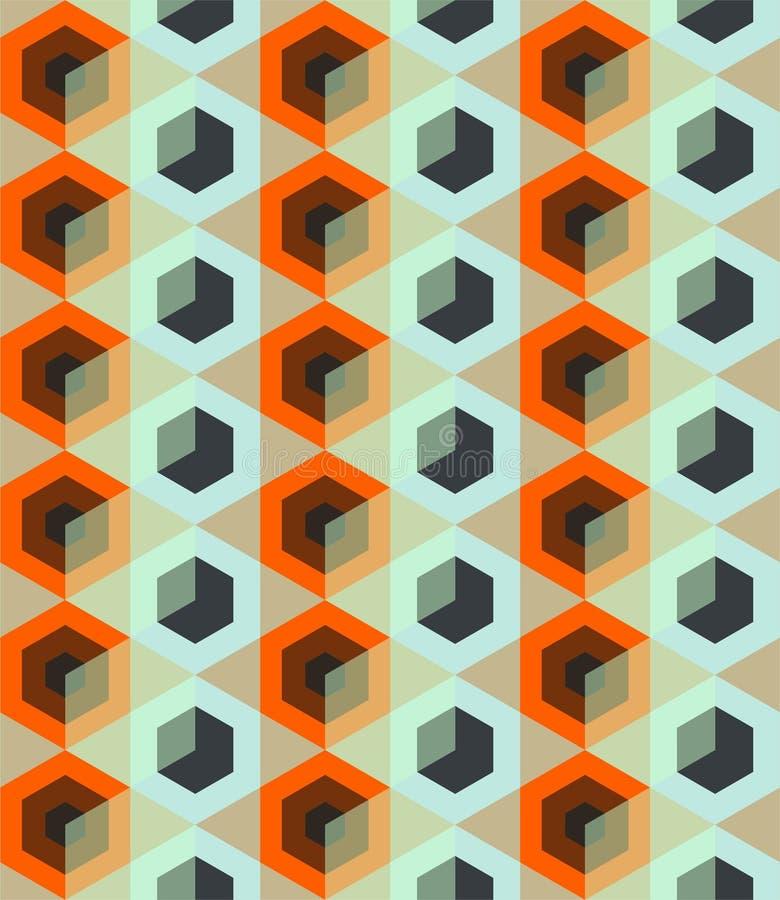Modelo inconsútil con el Rhombus ilustración del vector