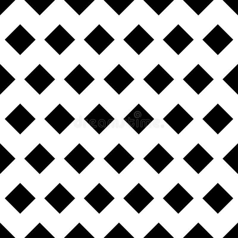Modelo inconsútil con el Rhombus negro Ilustración del vector libre illustration