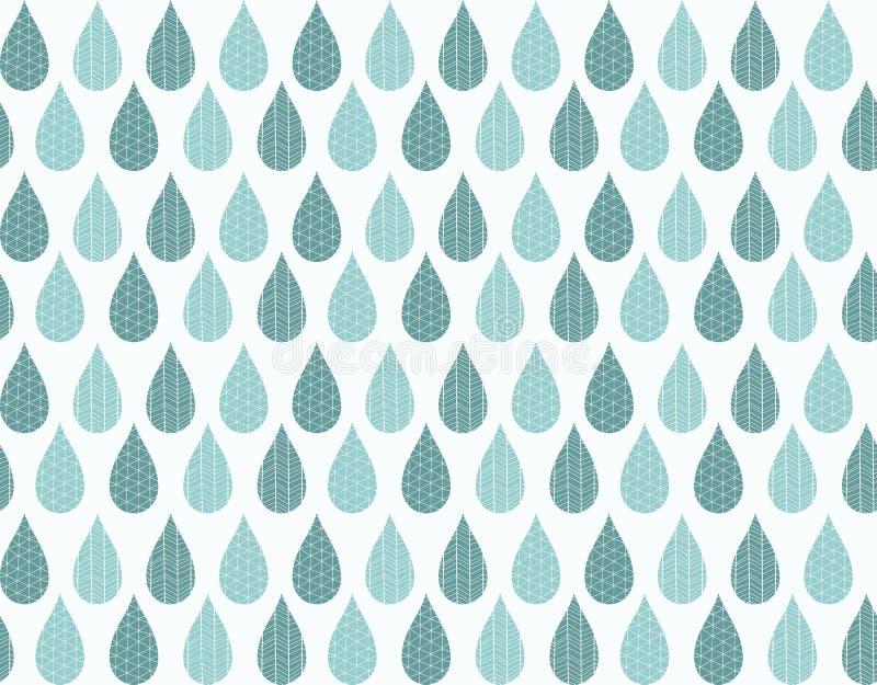 Modelo inconsútil con gotas y dibujos lineales ornamentales de lluvia libre illustration