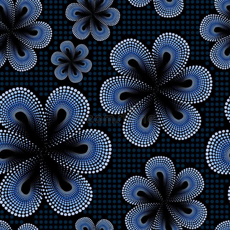 Modelo Inconsútil Con La Flor Azul Del Punto Del Tiare Ilustración ...