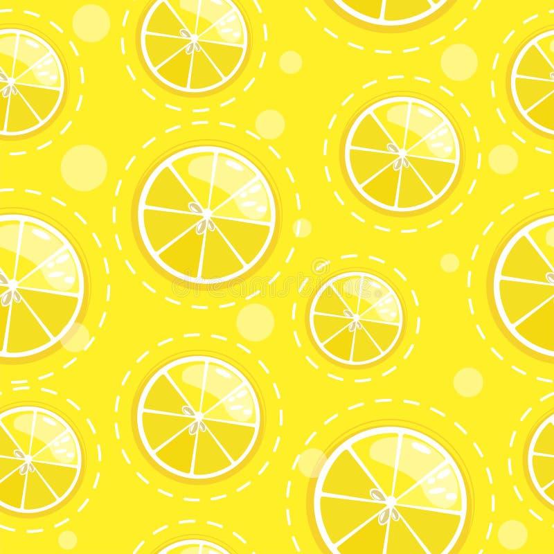 Modelo inconsútil con la fruta cítrica de la fruta fresca stock de ilustración