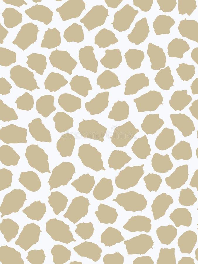 Modelo inconsútil con la jirafa de los puntos Mano drenada tinta Estilo del bosquejo libre illustration