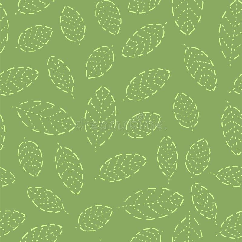Modelo inconsútil con la materia textil floral dibujada mano de la planta del verano del diseño de la naturaleza del ejemplo del  ilustración del vector